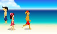 Beach Flirting